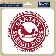 Label Santa's Sleigh Rides