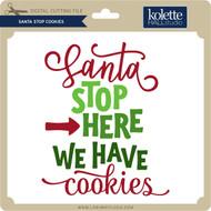 Santa Stop Cookies