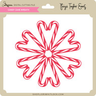 Candy Cane Wreath 2