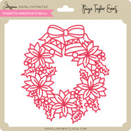 Poinsettia Wreath with Bells