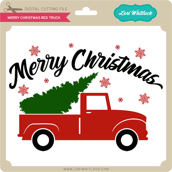Christmas Red Truck.Merry Christmas Red Truck