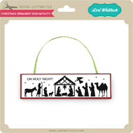 Christmas Ornament Sign Nativity