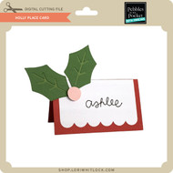 Holly Place Card