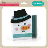 Matchbox Snowman Gift Card Holder