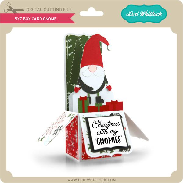 Christmas Gnomes Svg.5x7 Box Card Gnome