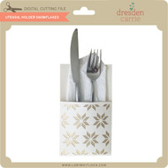 Utensil Holder Snowflakes