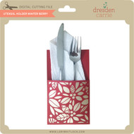 Utensil Holder Winter Berry