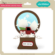 Snowglobe Box Card Red Truck