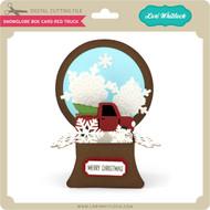 Snowglobe Box Card Red Truck