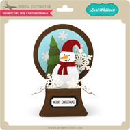 Snowglobe Box Card Snowman