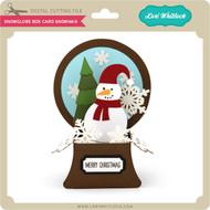 Snowglobe Box Card Snowman