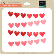 Ombre Heart Garland