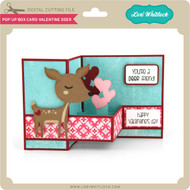Pop Up Box Card Valentine Deer