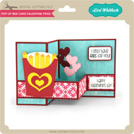 Pop Up Box Card Valentine Fries
