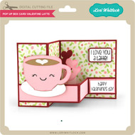 Pop Up Box Card Valentine Latte