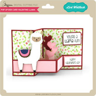 Pop Up Box Card Valentine Llama
