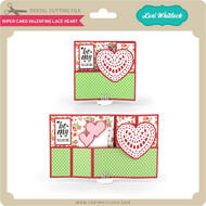 Wiper Card Valentine Lace Heart