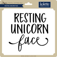 Resting Unicorn Face 2