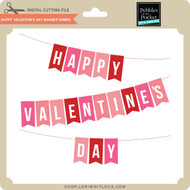 Happy Valentine's Day Banner Ombre
