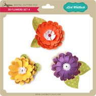3D Flower Set 4