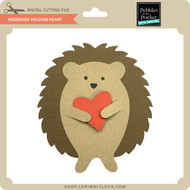 Hedgehog Holding Heart