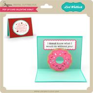 Pop Up Card Valentine Donut