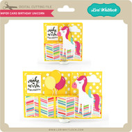 Wiper Card Birthday Unicorn