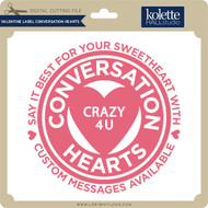 Valentine Label Conversation Hearts
