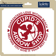 Valentine Label Cupid's Arrow Shop