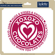 Valentine Label XOXO Chocolates