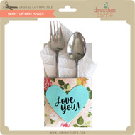 Heart Flatware Holder