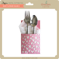 Heart Flatware Holder 2