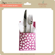 Heart Flatware Holder 3