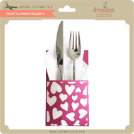 Heart Flatware Holder 4