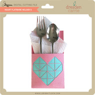 Heart Flatware Holder 5