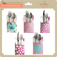 Heart Flatware Holder Bundle