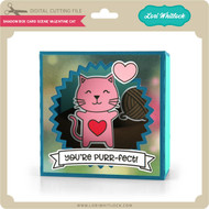 Shadow Box Card Scene Valentine Cat