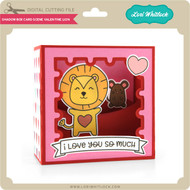 Shadow Box Card Scene Valentine Lion