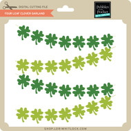 Four Leaf Clover Garland