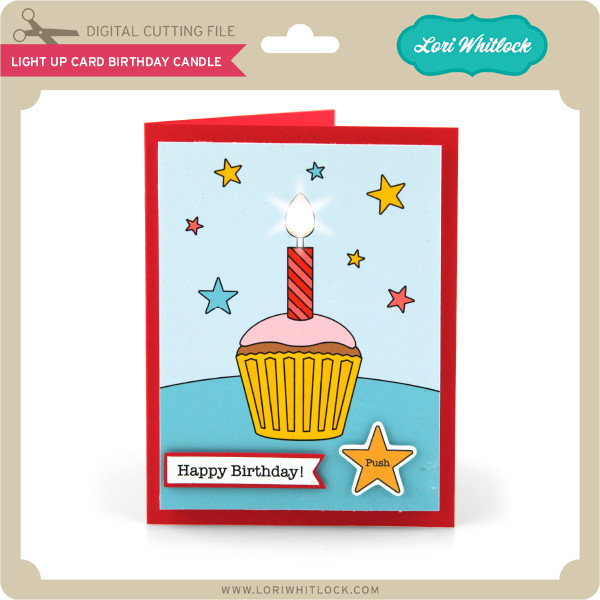 Light Up Card Birthday Candle 199 Image 1