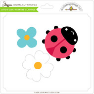 Lots O' Luck - Flowers & Ladybug