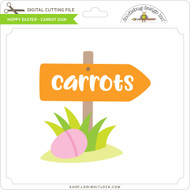 Hoppy Easter - Carrot Sign