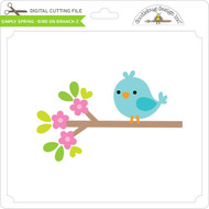 Simply Spring - Bird on Branch 2