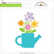 Simply Spring - Water Pot with Flowers