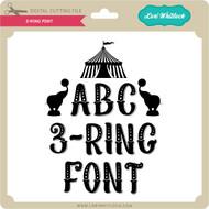 3 Ring Font
