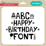Happy Birthday Font