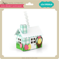 House Ornament Easter Basket