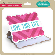 Easel Card Scalloped