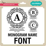 Monogram Name Font