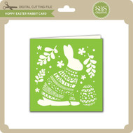 Hoppy Easter Rabbit Card